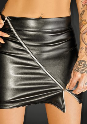 Noir - Ecoleather Mini Skirt